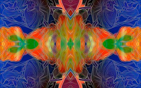 Picture line, fantasy, symmetry
