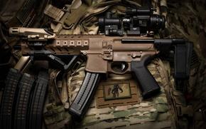 Picture machine, optics, camouflage, the gun, SIG-Sauer, MPX