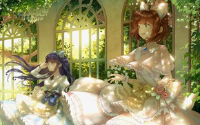 Picture girls, anime, art, Card Captor Sakura, Sakura-collector cards