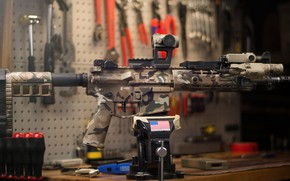 Picture American, AR-15, vise, a semi-automatic rifle
