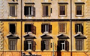 Picture Rome, Italy, Windows, The building, Italy, Italia, Roma