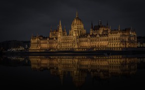 Wallpaper river, Hungary, Budapest, The Danube, Parliament