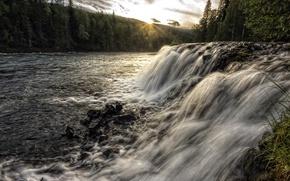 Picture river, waterfall, stream, Canada, British Columbia, Thompson-Nicola
