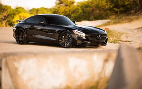 Picture Mercedes, Black, GTS, С190, 63AMG