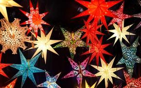 Picture lights, star, Germany, Bayern, Nuremberg, Christmas market, Christmas market