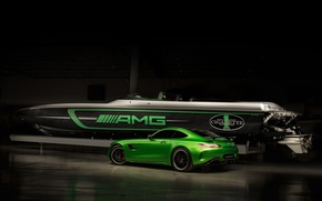 Picture car, boat, Cigarette Racing, Mercedes Amg