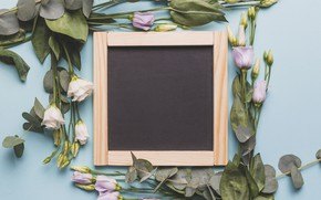 Picture flowers, spring, Board, buds, wood, flowers, spring, decoration, eustoma