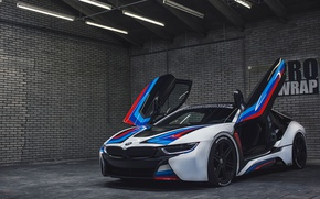 Picture car, BMW, logo, BMW I8, by L Castelijns