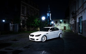Picture BMW, White, E60, Atmo