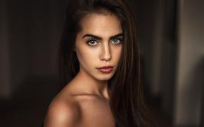 Picture look, girl, background, model, portrait, makeup, brunette, hairstyle, beautiful, bokeh, Martin Kühn, Martin Kuhn, Marlen, …