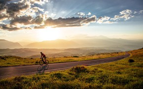 Picture road, sport, cyclist