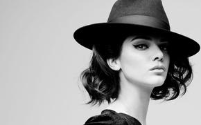 Picture model, brunette, Kendall Jenner