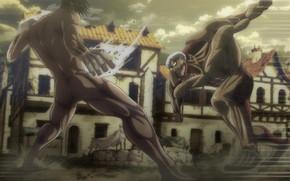Picture big, anime, fight, giant, manga, Attack on Titan, kyojin, japonese, Shingeki no Kyoji