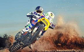 Picture Sport, Race, Skid, Motorcycle, Racer, Moto, KTM, Rally, Dakar, Dakar, Rally, Buck
