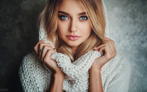 Picture eyes, look, girl, portrait, photographer, Polina, Evgeny Freyer, Polina Grents