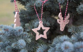 Picture holiday, Christmas, New Year, christmas, Tree, New Year, decorations, Wooden toys