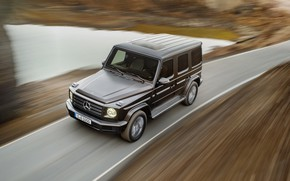 Picture movement, Mercedes-Benz, speed, blur, 2018, G-Class