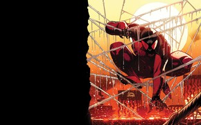 Picture sunset, comic, spider man, Marvel Comics, Clone, Scarlet spider, Cain