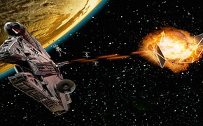 Picture fiction, planet, Star Wars, Star Wars, starship