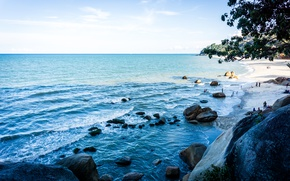 Picture sea, blue, malaysia, relaxing, kuantan, teluk, cempedak, teluk cempedak