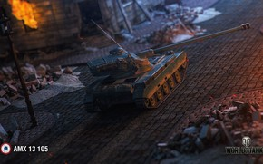 Picture the city, fire, the game, France, tanks, wot, world of tanks, World of Tanks, online, …