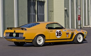 Picture Muscle, Boss 302, Race, Ford Mustang, Racing, 1970, Trans Am