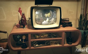 Picture Bottle, Room, TV, Fallout, Bethesda Softworks, Bethesda, Bethesda Game Studios, Vault Boy, Mister Handy, Vault-Tec, …