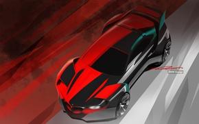 Wallpaper background, BMW, sketch, Hommage, BMW Design