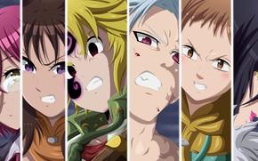 Picture game, anime, manga, oriental, asiatic, Nanatsu no Taizai, japonese, Seven Deadly Sins
