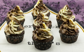 Picture Sweets, cream, Cupcakes