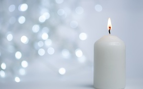 Picture macro, candle, Christmas, bokeh