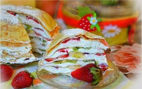 Picture Strawberry, Strawberry, Cake, Cake, pancake cake, Fruit cake