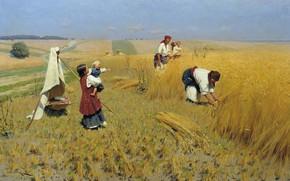 Picture field, oil, picture, canvas, genre, Nikolai Pimonenko, The harvest in Ukraine