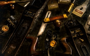 Picture spare parts, planer, old tools