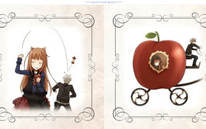 Picture Apple, stub, coach, art, throw, Spice and Wolf, Spice and wolf, Horo, vignette, Ayakura On, …