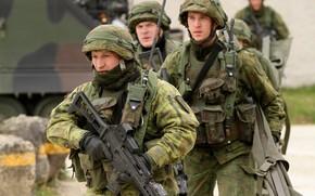 Picture gun, soldier, weapon, rifle, tank, armored, seifuku, G36, G 36
