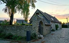 Picture House, Light, Landscape, Sunset, beautiful, Old, Belgium, Evening, Brick, Construction, Architectural, Brabant Wallon, Nivelles, Architechture, …