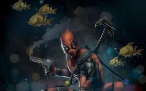 Picture mask, mercenary, deadpool, marvel comics, wade wilson