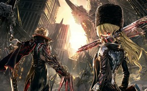 Wallpaper ruins, the city, Code Vein, the game