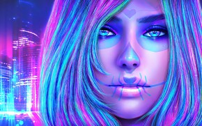 Picture look, girl, face, beauty, art, make up, sugar skull, dia delos muertos