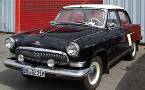 Wallpaper USSR, classic, white, RSFSR, GAZ 21, Volga, black, Volga, garage, background, GAZ 21
