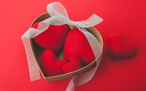 Picture hearts, red, love, romantic, hearts, valentine's day, gift