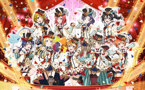 Wallpaper group, art, girls, anime, love live! school idol project
