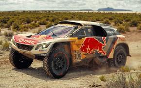 Picture Auto, Sport, Machine, Speed, Race, Peugeot, Red Bull, Rally, Dakar, Dakar, SUV, Rally, Sport, The …
