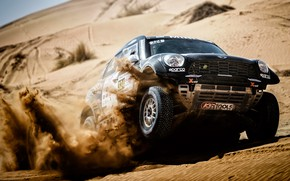 Picture Sand, Auto, Mini, Black, Sport, Desert, Machine, Speed, Race, Rally, SUV, Rally, 324, Dune, X-Raid …