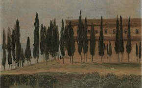 Picture Carl Gustav Carus, The Monastery Of Monte Oliveto, near Florence