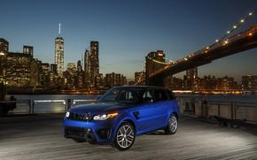 Picture City, Land Rover, Blue, Range Rover Sport, SVR