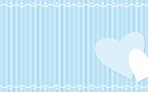 Picture texture, hearts, blue background