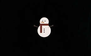 Picture new year, snowman, 2017