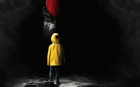 Wallpaper clown, it, cloak, movie, ball, 2017, benevis, horror